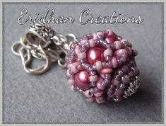 """Beaded bead - """"Ribbon"""" - tutorial"""