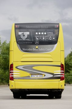 Mercedes Benz Bus, Luxury Bus, Krishna Radha, Busses, Commercial Vehicle, Coaches, Rear View, Safety, Trucks