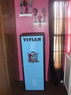 Locker i painted and made monster high for my grand daughter....Lisa