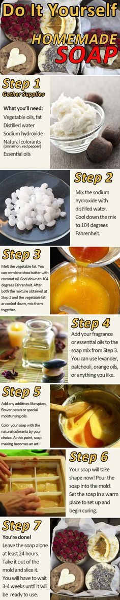Homemade soap! I want to try this!