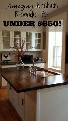 They remodeled their kitchen for under $650 in 3 weeks.