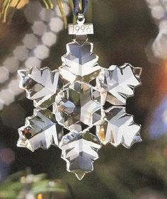 1996 Retired Swarovski Annual Ornament