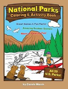 America's National Parks Coloring and Activity Book. Game playing is part of every birthday party, right? It is also a great way to get kids and adults ready to experience the National Parks as well as alternatives to outdoor activities if the weather turns bad during your stay. We found awesome educational games for kids, coloring books for everyone as well as cards, dice, puzzles, board games and more!