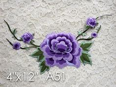 A51 Lace Appliques Wedding Applique, ONE Piece Lace Appliques, Embroidered Appliques. Iron on or Saw On