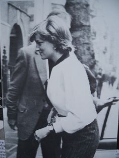 February 25, 1981: Lady Diana Spencer approaching her flat in Coleherne Court London the day after the announcement of her engagement.