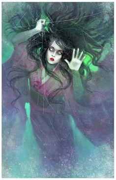 Yuki-Onna by DrawingNightmare.deviantart.com on @deviantART
