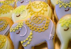 Decorated Elephant Cookies