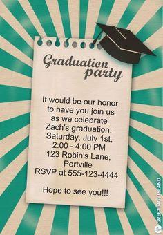 Free Printable Graduation Party Templates graduation