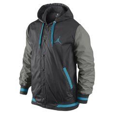 """Jordan Varsity Jacket """"Black Blue"""""""