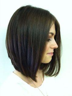 Medium Length Stacked Haircut |