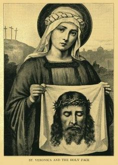 Veronica, patron saint of photography. One of my faves bc my name is Veronica Catholic Prayers, Catholic Art, Catholic Saints, Patron Saints, Roman Catholic, Religious Images, Religious Icons, Religious Art, St Veronica