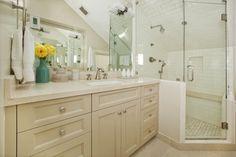 colored cabinets - Noe Valley Bathroom - traditional - bathroom - san francisco - Andre Rothblatt Architecture