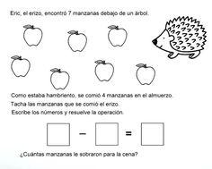 Mis recursos didácticos: Fichas de problemas para ejercitar sustracciones Spanish Activities, Learning Spanish, Preschool Activities, Math Work, Homeschool, 1, Education, Google, Hair