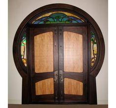 Custom Art Nouveau Round Door by William Doub Custom Furniture | CustomMade.com