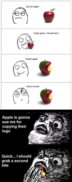 Rage Comics - Apple logo rage