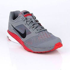 Nike Tri Fusion Run Msl Mens 749171-004 Grey Red Athletic Running Shoes Sz 10.5