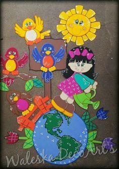 Decoração Paper Bag Crafts, Foam Crafts, Easy Diy Crafts, Crafts To Make, Crafts For Kids, Kindergarten Crafts, Preschool Crafts, Classroom Displays, Classroom Decor