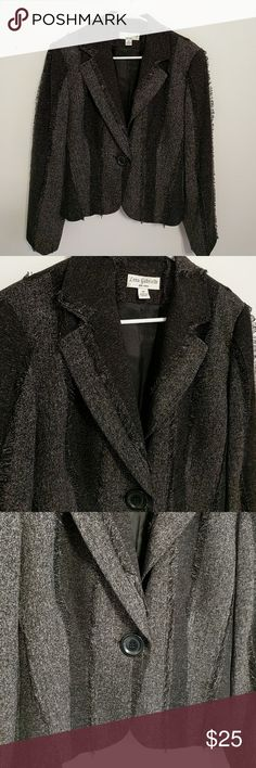 Lena Gabriel Blazer This beautiful black and grey Blazer is 21 inches long. It is in excellent condition! Lena Gabriel Jackets & Coats