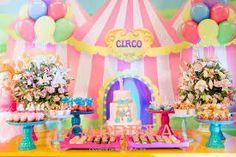 Resultado de imagem para festa circo menina