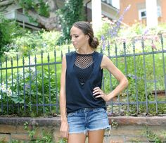 Trash To Couture: DIY Mesh Top