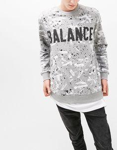Sweatshirt estampada Balance - Sweatshirts - Bershka Portugal