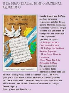 Resultado de imagen para dia del himno nacional argentino para niños Event Ticket, Acting, Solar, Mayo, Bible, Journal, Drawings, Beautiful, Social Environment