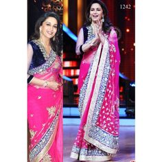 Madhuri Dixit Designer Net #Bollywood Style #Saree - M1  #fashion #clothing  #partywear #Designer #Saree #bridal #style  #beautiful #wedding www.indiarush.com/madhuri-dixit-designer-net-bollywood-style-saree-m1/ #StayTrendy