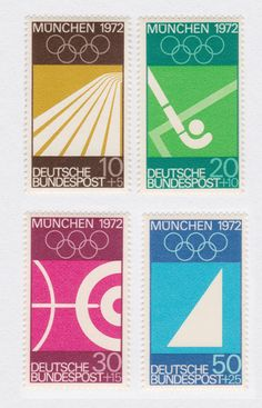 West Germany - Munich 1972 Olympics Stamps