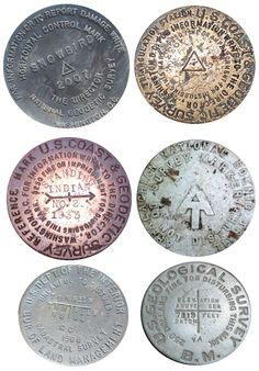 Survey Markers - not manhole covers, but have the same beauty.