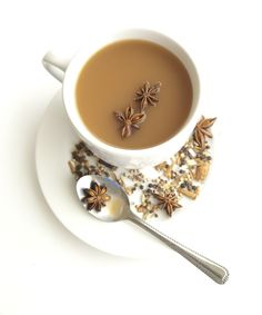 Chai with star anise from The Ayurvedic Vegan Kitchen: Finding Harmony Through Food #ayurveda