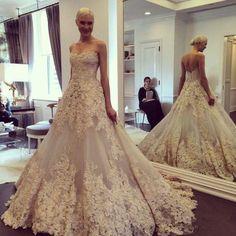 Elfenbein-Brautkleid-Abendkleid-Hochzeitskleid-Ballkleid-Gr-34-36-38-40-42-44-46