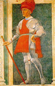 Castagno, Andrea del (Italian, 1420-1457), Farinata degli Uberti (from the series- Illustrious Men), 1450, detached fresco, Galleria degli Uffizi, Florence
