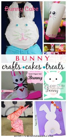 Find some fun bunny crafts and treats for spring!
