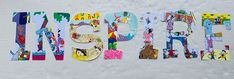Read Letters, Big Letters, Letter I, Letter Wall, Painting Teacher, Bulletin Board Letters, Painting Wooden Letters, What Is Miss