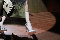 Miu Miu Décolletés - fashion shoes on runway  Paris Fashion Week on Sbaam.com  http://sba.am/h5ndjdb844s