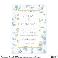 Wedding Paper, Wedding Cards, Wedding Gifts, Watercolor Wedding Invitations, Wedding Stationery, Autumn Wedding, Elegant Wedding, Watercolor Leaves, Watercolour