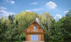 Elewacja prawa projektu Sosenka drewniana