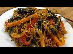 Салат Корейский с баклажанами | Կորեական աղցան սմբուկով | Eggplant Korean Salad - YouTube Spaghetti, Chopped Salads, Eat, Ethnic Recipes, Youtube, Food, Eggplants, Salads, Lettuce Recipes
