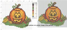 borduren kruissteekpatronen halloween cross-stitching pattern