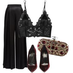 Untitled #157 by nelafashion on Polyvore featuring мода, WtR, Fleur du Mal and Yves Saint Laurent