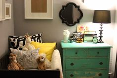 love this eclectic style nursery....