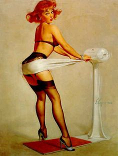 By Gil Elvgren - one of my favorite prints from my absolute favorite pin-up artist