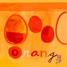 Orange Eggs Canvas Art