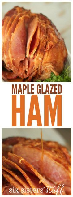 Slow Cooker Maple Glazed Ham from SixSistersStuff.com | A tender, juicy ham that takes only minutes to prepare and is SO DELICIOUS!