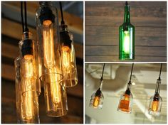 DIY Bottle Lamp: Make a Table Lamp with Recycled Bottles Pendant Lighting Table Lamps