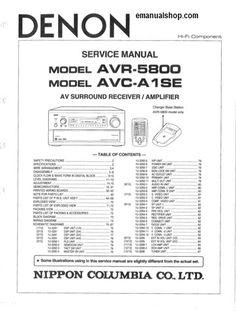 denon avr x1200w s710w a v receiver service manual and repair guide rh pinterest com denon receiver service manual Denon Exercise Freaks Manuals