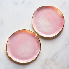 Ceramics Inspiration: Dessert Plates in Rose and Gold (set of two) – Suite One Studio Ceramic Plates, Ceramic Pottery, Ceramic Art, Painted Pottery, Ceramic Design, Gold Dessert, Dessert Plates, Dessert Design, Design Plat