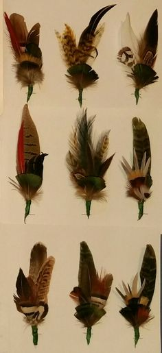 Wonderful Handmade Feather Hat Sticks For Friuli Alpini Hats. Found At Aviano  Mercatino Antiquariato.