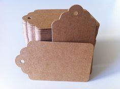 Amazon.com: 100PCS Wedding Brown Retangle Kraft Paper Tag Bonbonniere Favor Gift Tags With Jute Twines