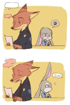 1 of 3, Judy tries to open her drink and can't, while Nick is talking with another officer. Judy is called away and she leaves her drink.
